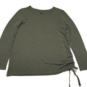 Ann Taylor • green long sleeve top